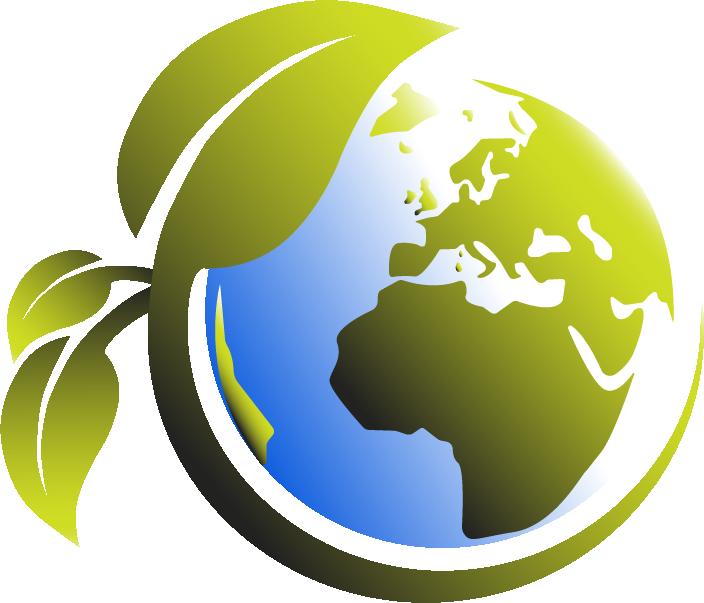 Groene technologie aarde logo