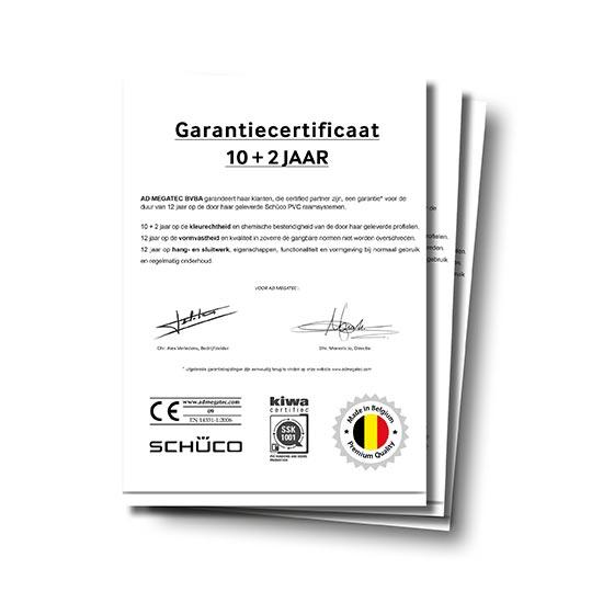 Certificaat Garantie ad megatec jjs
